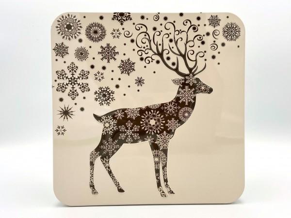"""Metall-Geschenkdose """"Golden Deer"""", 550g"""